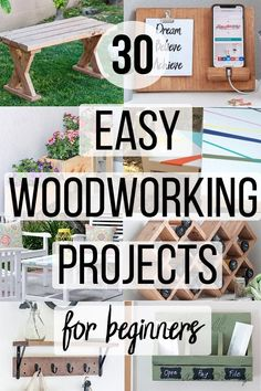 diy furniture projects An amazing collection of DIY beginner woodworking Projects that are easy and simple. These small project ideas have step by step instructions and range for simple projects for kids to quick furniture projects! Small Woodworking Projects, Woodworking Crafts, Woodworking Bench, Youtube Woodworking, Woodworking Shop, Woodworking Machinery, Woodworking Supplies, Woodworking Magazines, Woodworking Chisels