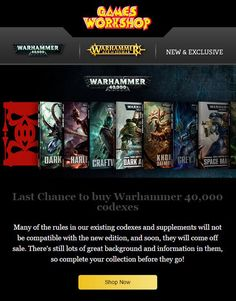 Warhammer 40 000 8th edition announcement