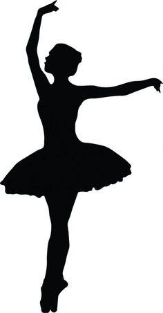 Ballet Dancer Silhouette - 27 : Custom Wall Decals, Wall Decal Art, and Wall Decal Murals | WallMonkeys.com