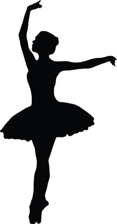 Ballet Dancer Silhouette - 27 : Custom Wall Decals, Wall Decal Art, and Wall Decal Murals | WallMonkeys.com