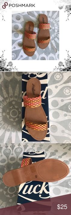 Lucky Brand 🍀 Alddon Slide Sandal New condition! Comes with box. Perfect for summer! Bought from another Posher and they were too small 😞. Feel free to ask any questions Lucky Brand Shoes Sandals