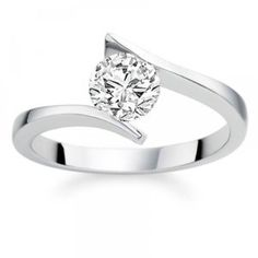 2.36 Carat D/VS1 Round Brilliant Certified Diamond Solitaire Engagement Ring in 18k White Gold - http://www.wonderfulworldofjewelry.com/jewelry/236-carat-dvs1-round-brilliant-certified-diamond-solitaire-engagement-ring-in-18k-white-gold-couk/ - Your First Choice for Jewelry and Jewellery Accessories