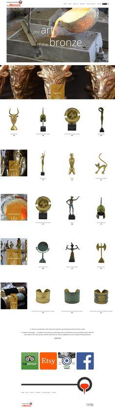 Η τέχνη του μετάλλου  Ολοκληρώθηκε η ιστοσελίδα the bronze, ένα ηλεκτρονικό κατάστημα αφιερωμένο στα μπρούτζινα αγαλματίδια και έργα τέχνης με την μέθοδο της χύτευσης.  https://www.imonline.gr/gr/kataskevi-istoselidas/i-texni-tou-metallou-1173