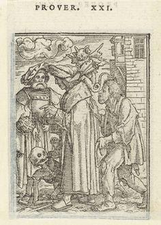 1524 - 1526 Hans Holbein (II), Hans Lützelburger, Chancellor and Death (Kanselier en de Dood)