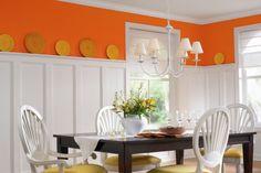orange kitchen!