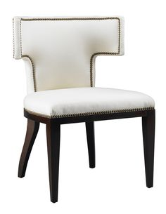 Fully Upholstered Klismos Chair Contemporary, Transitional, MidCentury Modern, Wood, Upholstery Fabric, Dining Chair by Putnam Mason