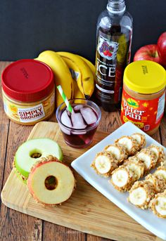 Creative and fun after school snack ideas like banana sushi and apple sandwiches will help your kids power through homework time. Healthy Bedtime Snacks, Healthy Protein Snacks, Healthy Afternoon Snacks, Lunch Snacks, Healthy Snacks For Kids, Healthy Breakfasts, Eating Healthy, Lunches, Easy Snacks