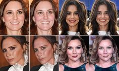 Celebrities are shown without their makeup thanks to new app MakeApp