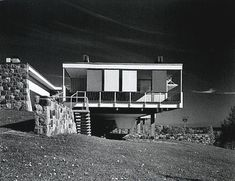 Marcel Breuer, 1955 - The June Halverson Alworth House, aka the Starkey House Marcel Breuer, Monuments, Mid Century Exterior, Walter Gropius, Architecture Details, Minimal Architecture, Pavilion Architecture, Sustainable Architecture, Residential Architecture