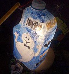 lampion halloween melkpak