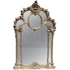 French Over Mantel Gilt Mirror at 1stdibs ❤ liked on Polyvore featuring home, home decor, mirrors, fillers, furniture, decor, backgrounds, gilt mirror, french gilt mirror and french mirror