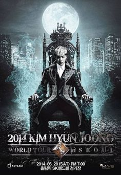 Kim Hyun Joong unveils poster for his upcoming world tour which kicks off in Seoul this month | allkpop