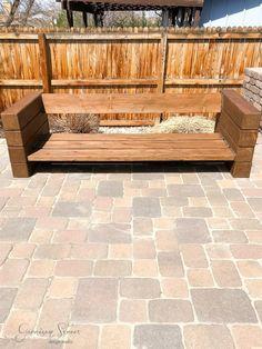 40 Awesome DIY Outdoor Bench Ideas For Backyard and Front Yard Garden - doityourzelf Outdoor Sofa, Outdoor Furniture Sofa, Outdoor Decor, Restoration Hardware Outdoor Furniture, Street Design, Garden Furniture Design, Furniture Ideas, Wooden Couch, Diy Sofa