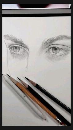 Art Drawings Beautiful, Art Drawings Sketches Simple, Pencil Art Drawings, Realistic Drawings, Drawing Faces, Eye Pencil Sketch, Face Pencil Drawing, Pencil Sketching, Eye Sketch