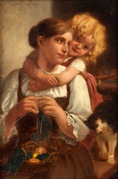 Paul Hermann Wagner (1852 – 1937, German)* - Affection