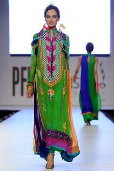 south asian inspired textiles,   Somal Halepoto at Pakistan Fashion Week Lahore