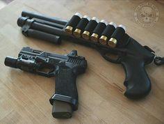 Shorty, shotgun, pistol, guns, weapons, self defense, protection, 2nd amendment, America, firearms, munitions #guns #weapons