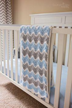 Chevron Baby Blanket Crochet Pattern