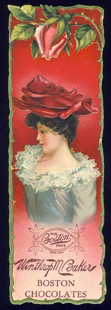 victorian advertisements | Victorian Advertising Bookmark - BOSTON CHOCOLATES