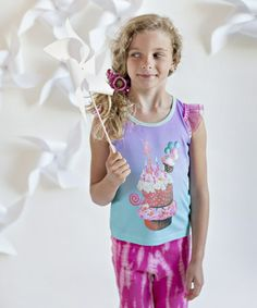 Another great find on #zulily! Canal Blue Party Cupcake Angel-Sleeve Top - Toddler & Girls #zulilyfinds