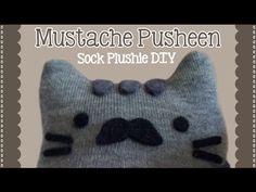 DIY Mustache Pusheen Sock Plushie Tutorial