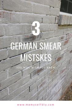 Brick Discover 3 German Smear Mistakes You Dont Want to Repeat Three major reasons your German smear project will fail and what to look for to make your project a success. White Wash Brick Exterior, Diy Exterior, Home Exterior Makeover, Exterior Paint, Painted Brick Walls, Faux Brick Walls, How To Paint Brick, Faux Brick Wall Panels, Painted Brick Fireplaces