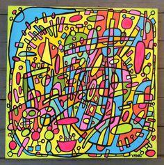 POP OP Art Inspired Original Art by Vikki Vaden