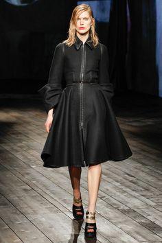 Prada Fall/Winter 2013 Ready-to-Wear Collection via Designer Miuccia Prada; modeled by Iselin Steiro
