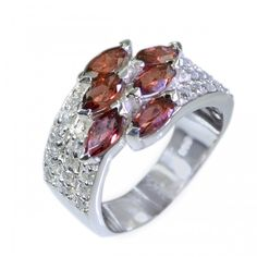 Riyo Spicy Garnet 925 Solid Sterling Silver Red Ring Srgar5.5-26012
