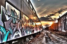 Abandoned train car exterior, Boone, Iowa