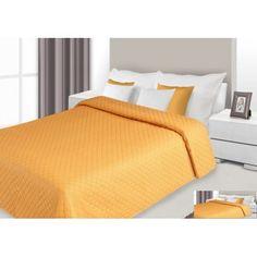 Prehoz na posteľ oranžovej farby s prešívaným vzorom Bed, Furniture, Home Decor, Decoration Home, Stream Bed, Room Decor, Home Furnishings, Beds, Home Interior Design