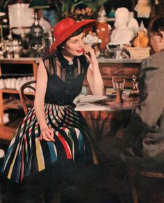 Mademoiselle May 1951 / Conde Nast Archive #1950s #style