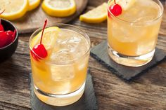 Homemade Whiskey Sour Cocktail Drink by brenthofacker IFTTT Amaretto Sour, Pisco Sour, Cocktail Bitters, Sour Cocktail, Cocktail Drinks, Cocktail Recipes, Drink Recipes, Whiskey Sour, Ginger Beer
