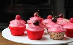 Cupcakes with Fruit Icing and Sparkles Recipe by Lotte Duncan