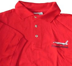 Thunderbirds USAF Red Polo Shirt L - New