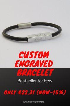 Men's bracelet Engraved bracelet Leather bracelet | Etsy Bracelets For Boyfriend, Boyfriend Gifts, Bracelets For Men, Bracelet Men, Mens Engraved Bracelets, Personalized Bracelets, Gifts For Husband, Gifts For Father, Personalised Gifts For Him