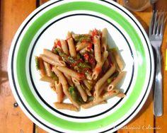 Farneticazioni Culinarie: Penne integrali con asparagi e pomodori San Marzan...