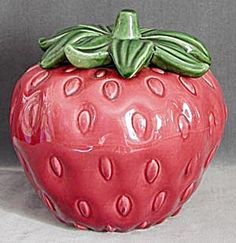 Vintage Strawberry China Cookie Jar....I actually own this as it was my late mother-in-laws.