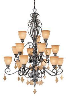 Vaxcel USA MMCHU015AE Montmarte 15 Light Chandelier Lighting Fixture in Bronze, Glass Vaxcel http://www.amazon.com/dp/B002R9607Y/ref=cm_sw_r_pi_dp_Wvipub1FRSE9K