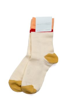 """The Top Stripe Sock by Hansel From Basel is a soft, combed cotton style that will easily be your """"goes-with-everything sock"""" thanks to the simple colorblock and single stripe design. 70% Cotton / 20%"""