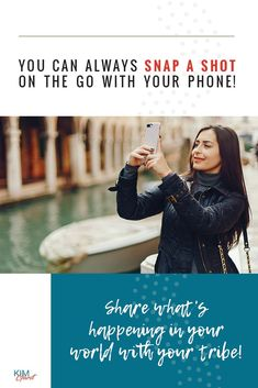 You can always snap a shot of the go with your phone! Share what's happening in your world with your tribe! Best Entrepreneurs, Social Media Quotes, How To Know, Business Tips, Social Media Marketing, Make It Simple, Shit Happens, Inspirational Quotes, Phone