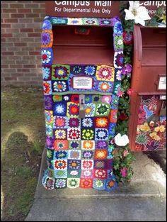 I really love the yarn bombing