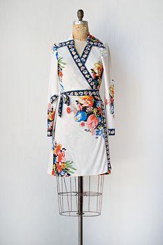 vintage 1970s dress | 70s wrap dress | Imperial Gardens Dress