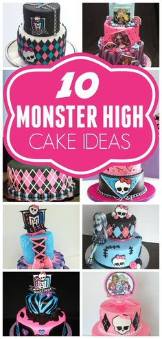 10 Coolest Monster High Birthday Cake ideas on prettymyparty.com.