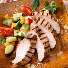 Jerk Chicken Breast - Diabetic - chicken - Jamaican Jerk seasoning - 8 garlic cloves - fresh or dried thyme - lemon - olive oil