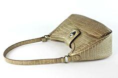 Gold Bronze Faux Leather Croc Embossed Handbag/ Shoulder Purse Magnetic Closure in Clothing, Shoes & Accessories, Women, Women's Bags & Handbags Shoulder Purse, Leather Shoulder Bag, Purses For Sale, Purses And Bags, Fashion Handbags, Hermes Handbags, Faux Leather Backpack, Cute Purses, Small Handbags