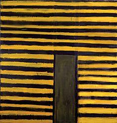 Frank Stella (American, b. 1936), East Broadway, 1958. Oil on canvas