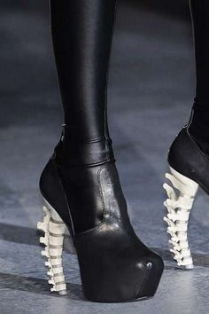 Skeletal Dsquared2 Fall 2010 Shoes Are Anatomazing