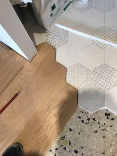 Wall Tiles Design, Floor Design, House Design, Brick Flooring, Concrete Floors, Architecture Jobs, Smart Home Design, Creative Wall Decor, Hexagon Tiles