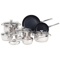 Paderno Hearthstead Cookware - Set of 12 available for sale at the best price at Kitchen Stuff Plus your Cookware Sets store. Canada Shopping, Cookware Set, Peel And Stick Wallpaper, Deco, Online Furniture, Appliances, Kitchen, Accessories, Costco